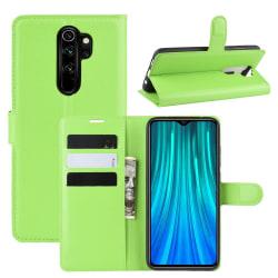 Xiaomi Redmi Note 8 Pro - Litchi Plånboksfodral - Grön Green Grön