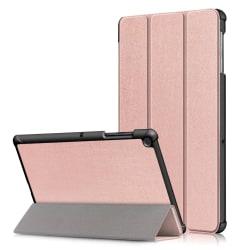 Samsung Galaxy Tab S5e - Tri-Fold Läder Fodral - Roséguld Roséguld