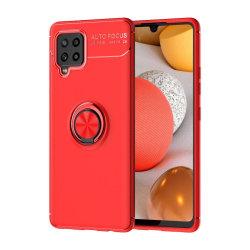 Samsung Galaxy A42 - Ring Skal - Röd Red Röd