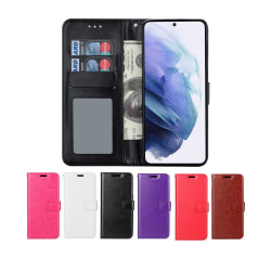 Samsung Galaxy S21 Plus - Plånboksfodral - Välj Färg! Black Svart