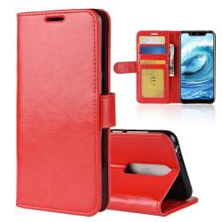 Nokia 5.1 Plus - Plånboksfodral - Röd Red Röd