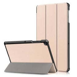 Samsung Galaxy Tab S5e - Tri-Fold Läder Fodral - Guld Guld