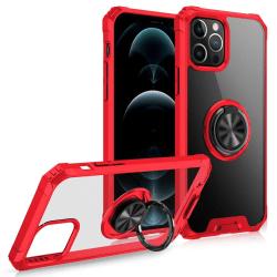 iPhone 12 / 12 Pro - Hybrid Ring Skal - Röd Red Röd