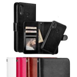 Huawei P20 Lite - Plånboksfodral / Magnet Skal 2 in 1 - Välj Fär Black Svart