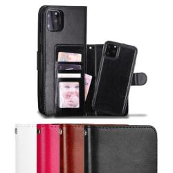 iPhone 11 Pro Max - Plånboksfodral / Magnet Skal 2 in 1 - Välj F Black Svart
