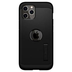 iPhone 12 / 12 Pro - Spigen Tough Armor Skal - Svart Black Svart