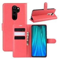 Xiaomi Redmi Note 8 Pro - Litchi Plånboksfodral - Röd Red Röd