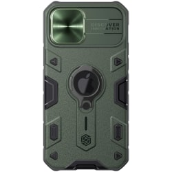 iPhone 12 / 12 Pro - NILLKIN CamShield Armor Ring Skal - Grön Green Grön