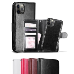 iPhone 12 / 12 Pro - Fodral / Magnet Skal 2in1 - Välj Färg! Black Svart