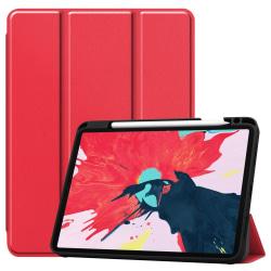 iPad Air 2020, Pro 11 2018/2020 - Tri-Fold Fodral med Pennhållar Red Röd