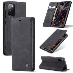 Samsung Galaxy S20 FE - CASEME Retro Fodral - Svart Black Svart