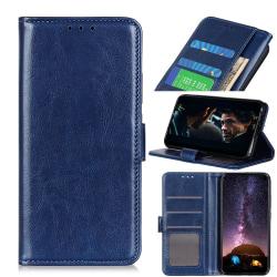Samsung Galaxy Note 10 Lite - Crazy Horse Plånboksfodral - Mörk  DarkBlue Mörk Blå