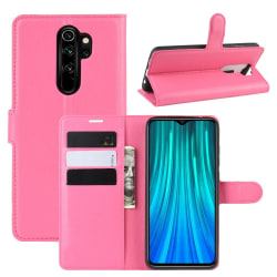 Xiaomi Redmi Note 8 Pro - Litchi Plånboksfodral - Rosa Pink Rosa