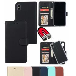 iPhone 7/8/SE 2020 - Fodral med Magnet Skal 2in1 - Välj Färg! Black Svart