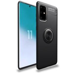Samsung Galaxy A41 - Ring Skal - Svart Black Svart
