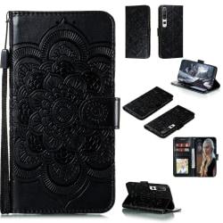 Xiaomi Mi 10 / 10 Pro - Mandala Plånboksfodral - Svart Black Svart