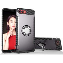 Huawei Honor 10 - Armour Ring Skal - Grå Grey Grå