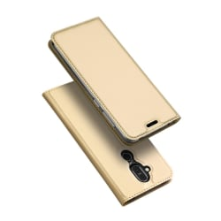 Nokia 8.1 - DUX DUCIS Plånboksfodral - Guld Gold Guld