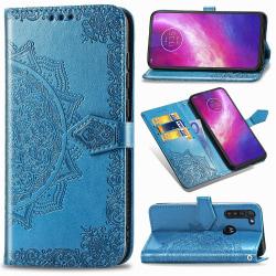 Motorola Moto G8 Power - Mandala Plånboksfodral - Blå Blå