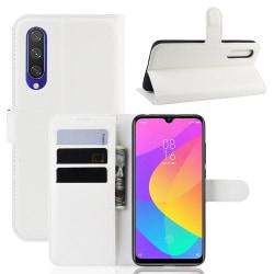 Xiaomi Mi A3 - Litchi Plånboksfodral - Vit White Vit