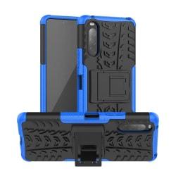 Sony Xperia 10 II - Ultimata Stöttåliga Skalet med Stöd - Blå Blue Blå
