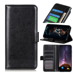 Samsung Galaxy Note 10 Lite - Crazy Horse Plånboksfodral - Svart Black Svart
