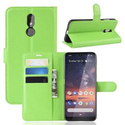 Nokia 3.2 - Litchi Plånboksfodral - Grön Green Grön