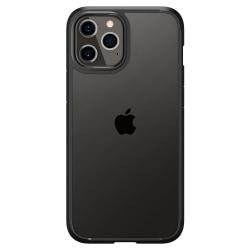 iPhone 12 / 12 Pro - Spigen Ultra Hybrid Skal - Matt Svart