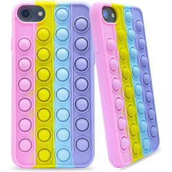 iPhone 6/7/8/SE (2020) - Pop It Fidget Skal - Multicolor