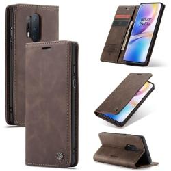 OnePlus 8 Pro - CASEME Plånboksfodral - Mörk Brun Mörkbrun