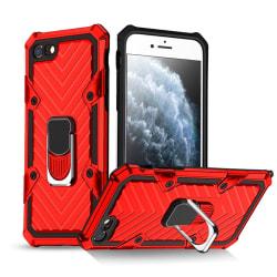 iPhone 7/8/SE (2020) - Shockproof Hybrid Ring Skal - Röd Red Röd