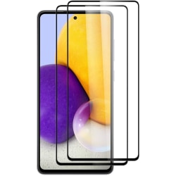 Samsung A52  / A52s - 2-Pack Heltäckande Skärmskydd i Härdat Gla