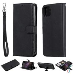 iPhone 11 Pro Max - Plånboksfodral / Magnet Skal - Svart Black Svart