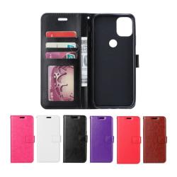 Motorola Moto G10 / G30 - Plånboksfodral - Välj Färg! Black Svart