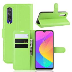Xiaomi Mi A3 - Litchi Plånboksfodral - Grön Green Grön