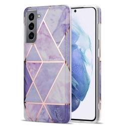 Samsung Galaxy S21 - Marmor TPU Skal - Ljus Lila
