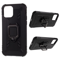 iPhone 12 / 12 Pro - Shockproof Ring Skal - Svart Black Svart