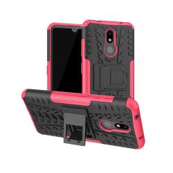 Nokia 3.2 - Ultimata stöttåliga skalet med stöd - Rosa Pink Rosa
