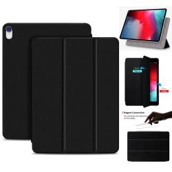 iPad Air (2020) / Pro 11 (2018) - 2in1 Magnet Tri-Fold Litchi Fo Black Svart