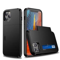 iPhone 11 Pro Max - Hybrid Skal Med Kortfack - Svart Black Svart