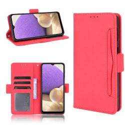 Samsung Galaxy A32 5G - Fodral Med Avtagbart Kortfodral - Röd Red Röd