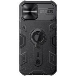 iPhone 12 / 12 Pro - NILLKIN CamShield Armor Ring Skal - Svart Black Svart