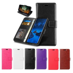 Nokia 2.4 - Crazy Horse Fodral - Välj Färg! Black Svart
