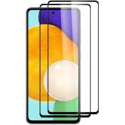 Samsung A72 5G - 2-Pack Heltäckande Skärmskydd i Härdat Glas