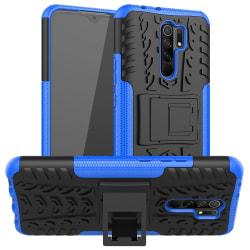 Xiaomi Redmi 9 - Ultimata Stöttåliga Skalet med Stöd - Blå Blue Blå