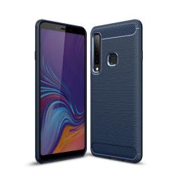 Samsung Galaxy A9 (2018) - Brushed TPU Skal - Navy Blue