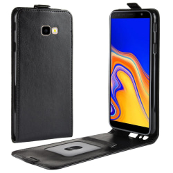 Samsung Galaxy J4 Plus - Flip Fodral - Svart Black Svart