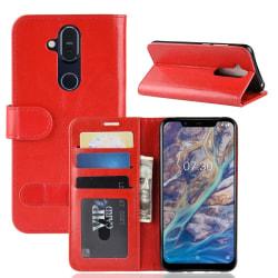 Nokia 8.1 - Plånboksfodral - Röd Red Röd
