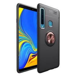 Samsung Galaxy A9 (2018) - Ring Skal - Svart/Rosé