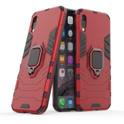 Huawei Y6 (2019) - Armour Ring Skal  Funkar med magnethållare -  Red Röd
